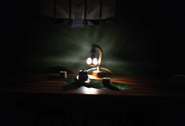tasarım hediyelik abajur lambası