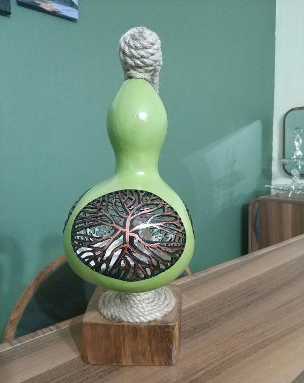 su kabağı özel tasarım abujur lamba