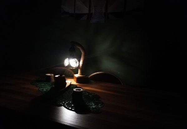 su kabağı tasarm hediyelik lamba abajur