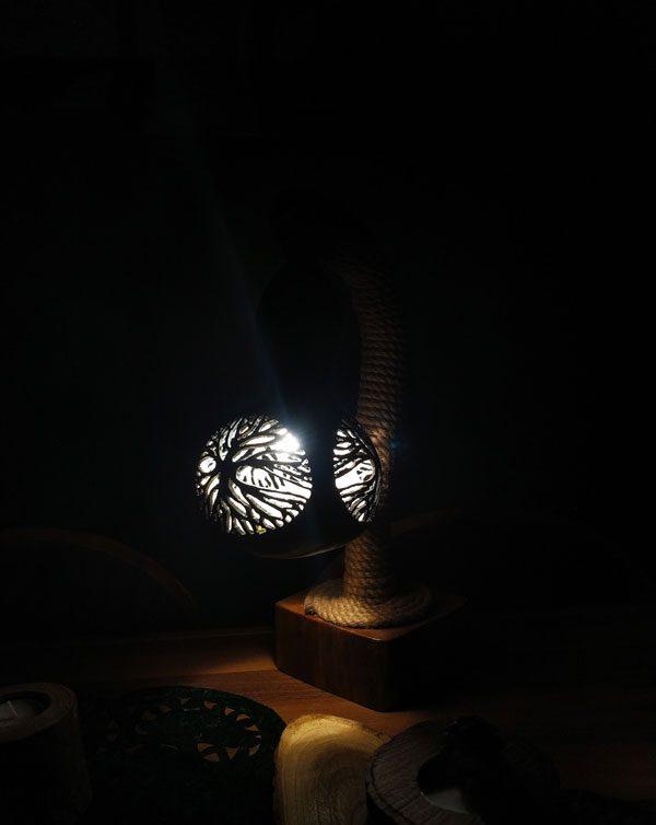 su kabağı abajur lamba