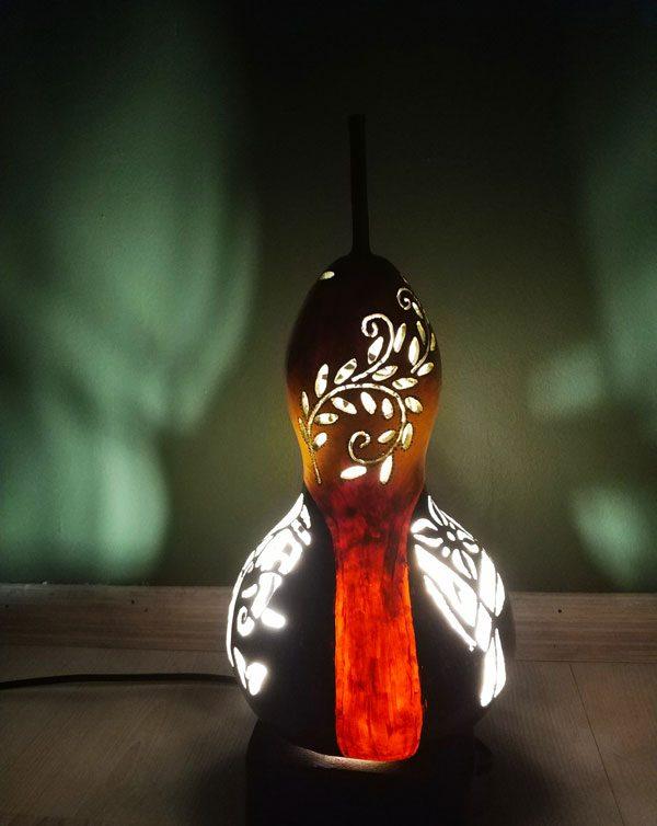 su kabağı masa lambası