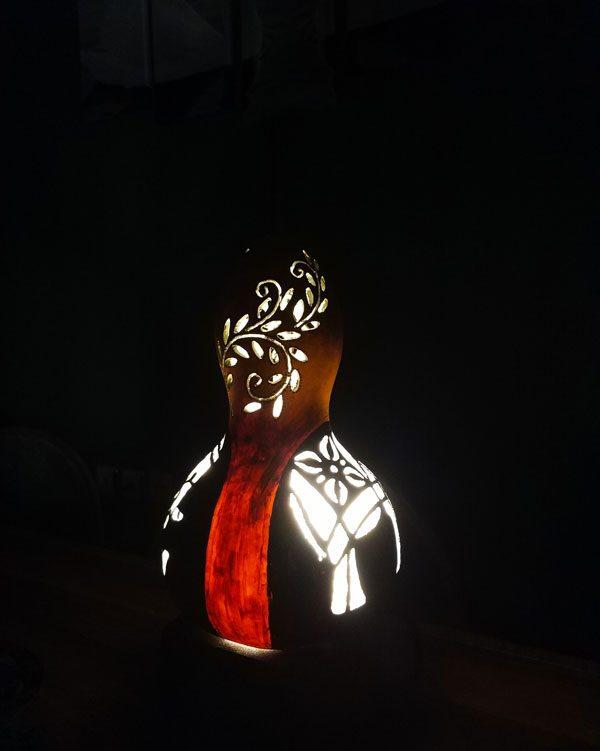 su kabağı lamba