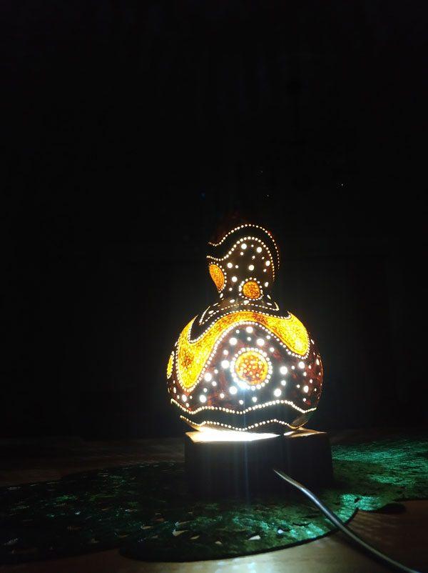 su kabağı tasarım masa lambası