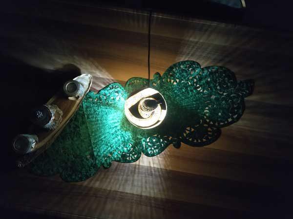 su kabağı hediyelik masa lambası