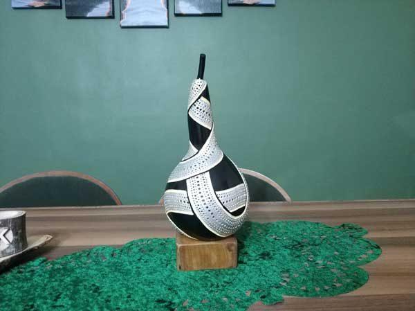 su kabağı özel tasarım aydınlatma masa lambası