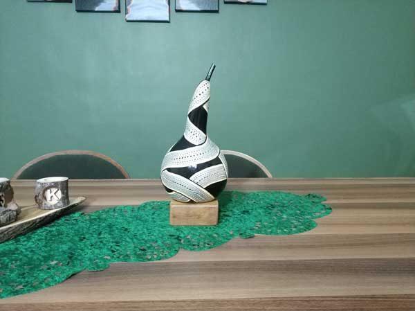 su kabağı tasarım hediyelik aydınlatma masa lambası