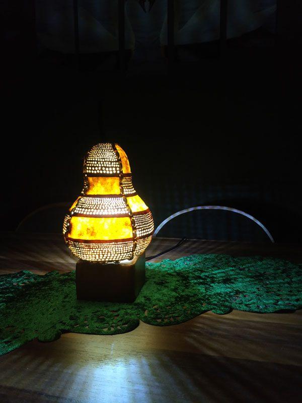 özel tasarım kabaklasanat.com su kabağı lambaları