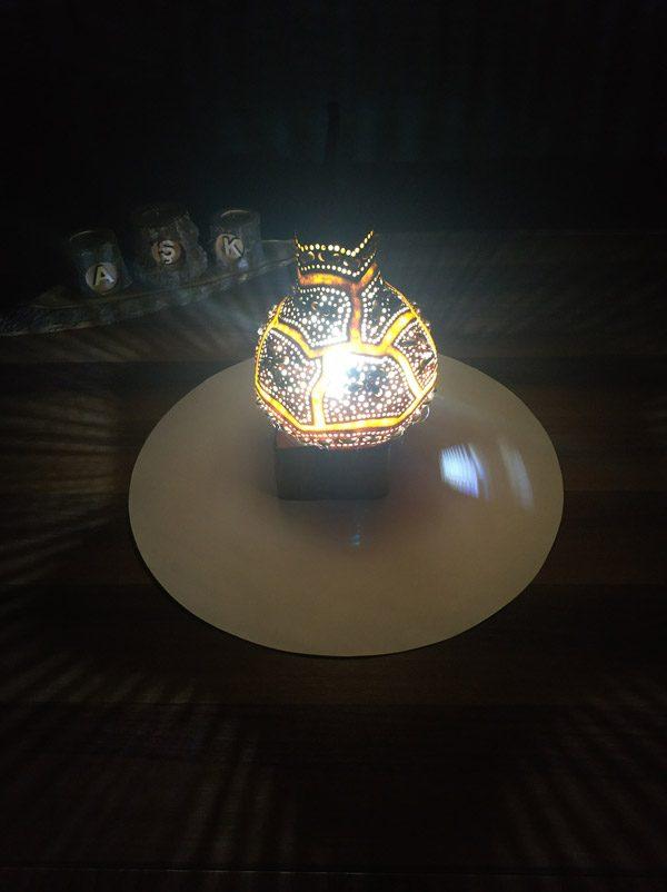 kayra modeli su kabağı tasarım lamba