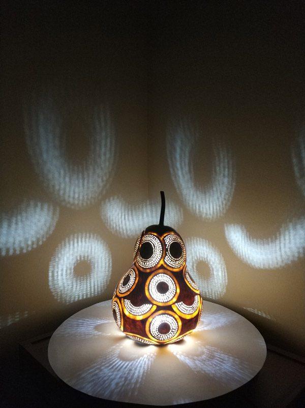 su kabağı ışıklı dekoratif led gece lamba