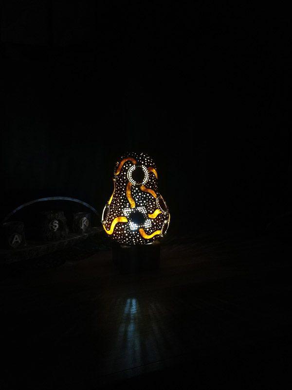 ışıklı dekoratif led gece lambası