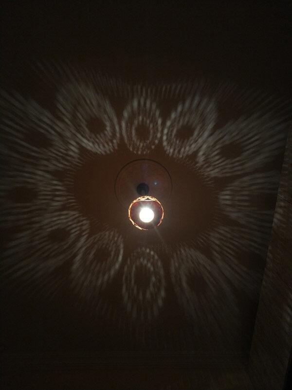su kabağı ışıklı dekoratif led gece sarkıt avize lamba