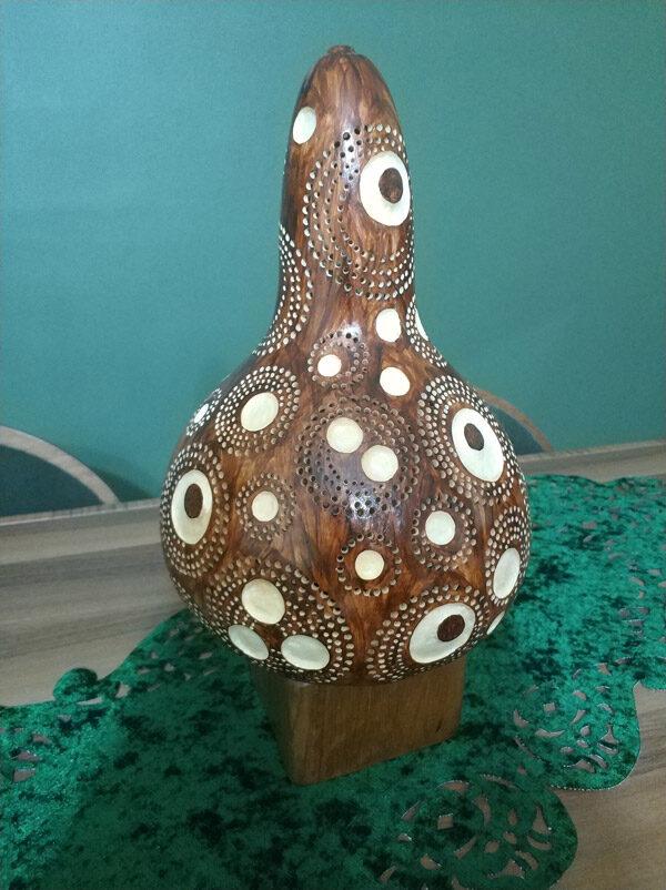 ışıklı dekoratif otantik hediyelik su kabağı lamba