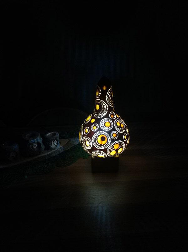 Dekoratif otantik ışıklı gece lambası