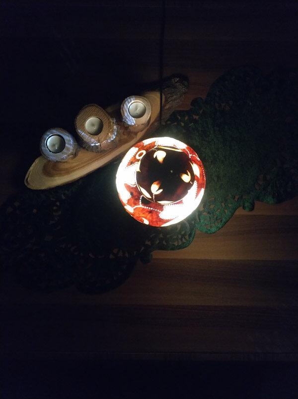 otantik dekoratif ışıklı aydınlatma su kabağı lamba