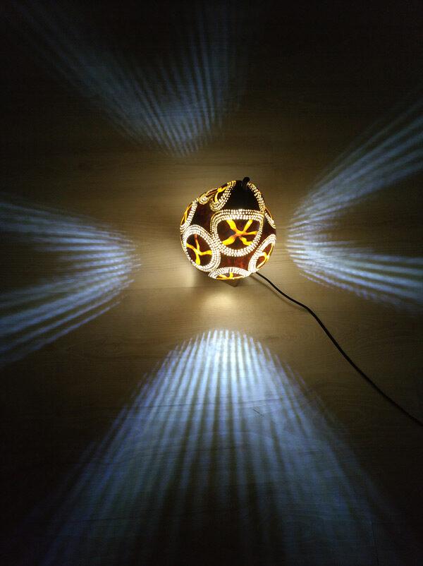 ışıklı dekoratif su kabağı gece lambası