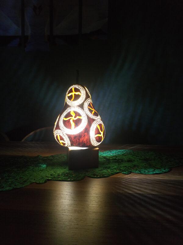 su kabağı dekoratif tasarım gece lambası