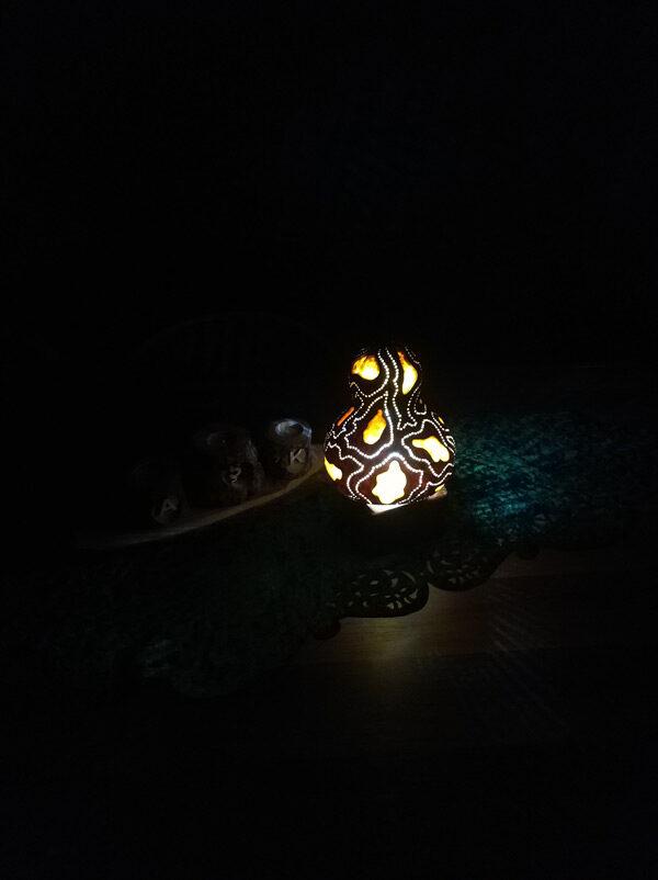 ledli dekoratif gece lambası