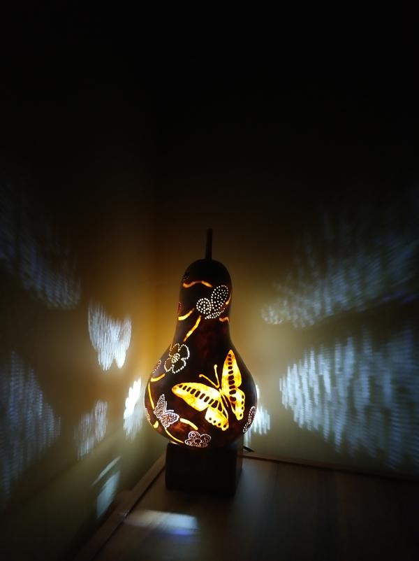 kelebek tasarım otantik dekoratif gece lambası