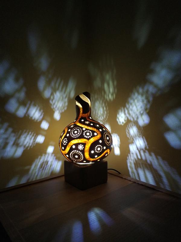 su kabağı süs eşyası otantik gece lamba