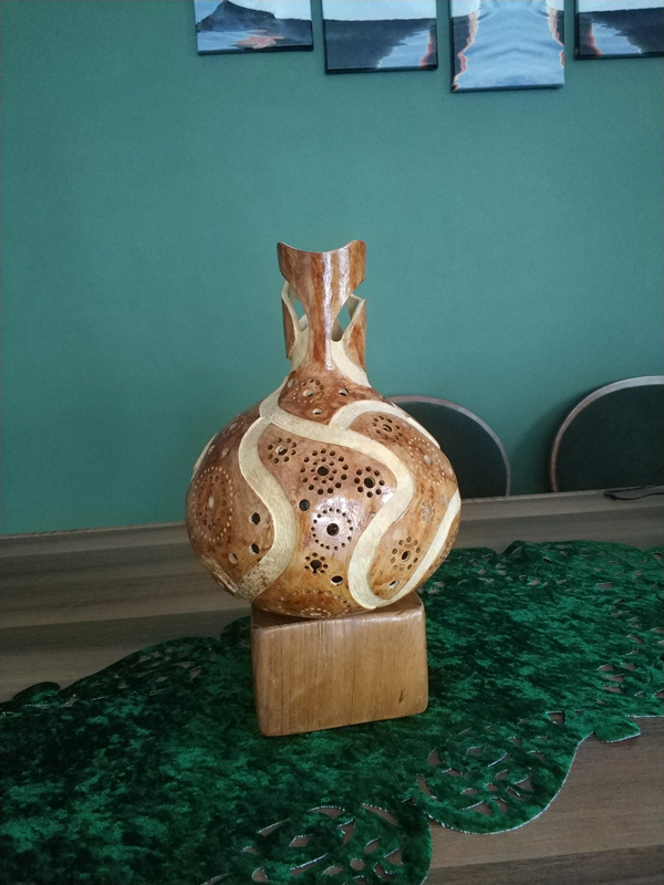 hediyelik süs eşya su kabağı masa lamba